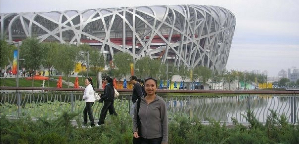 Elaine at Beijing Olympic Park