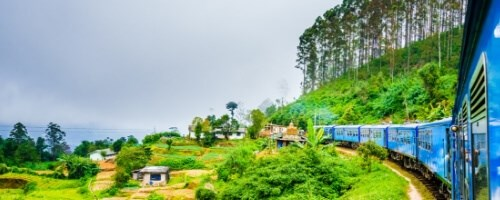 Kandy train to the high country
