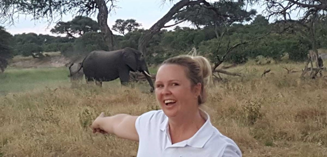 Chantal on Safari, Chobe National Park, Botswana