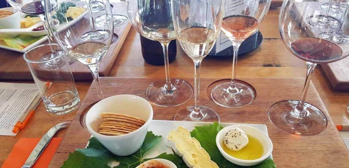 5 Wine Tasting with cheeses
