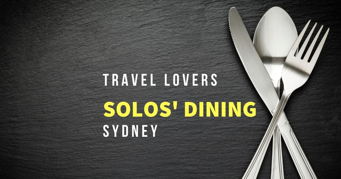 Solo Travel Dining Event 3 May 2020
